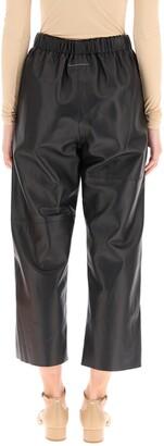 MM6 MAISON MARGIELA Cropped Leather Pants