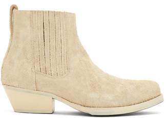 Our Legacy Cuban-heel Suede Boots - Mens - Beige