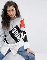 adidas Berlin Logo High Neck Cropped Sweatshirt With Mesh Sleeve