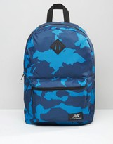 New Balance Camo Backpack In Navy
