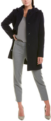 Cinzia Rocca Hooded Wool & Cashmere-Blend Coat