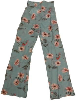 Intermix Multicolour Silk Trousers for Women