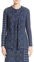 Oscar de la Renta Women's Pixelated Houndstooth Cardigan