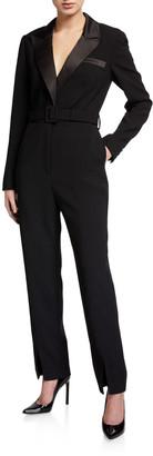 Self-Portrait Tailored Crepe Jumpsuit