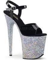 "Pleaser USA Exotic Dancing Shoes, Super High Heels 8"" Platform Sexy Sandal FLAMINGO-809LG Size 7"
