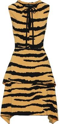 Proenza Schouler Layered Tiger-print Cady Dress