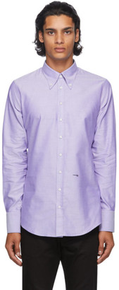 DSQUARED2 Purple Oxford 70s Shirt