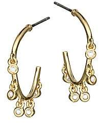 Jules Smith Designs Women's Ditsy 14K Yellow Goldplated & Crystal Charm Hoop Earrings