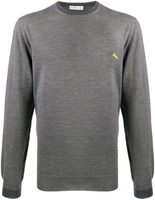 Etro Long Sleeve Contrast-Embroidered Logo Jumper