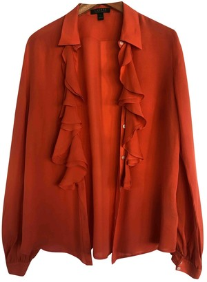 Lauren Ralph Lauren Orange Silk Top for Women