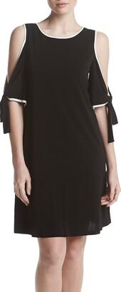 Taylor Dresses Women's Cold Shoulder A Line Dress