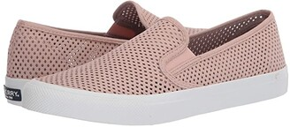 Sperry Seaside Perf Leather (Rose) Women's Shoes