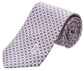 Saint Laurent Lavender Silk Tie.