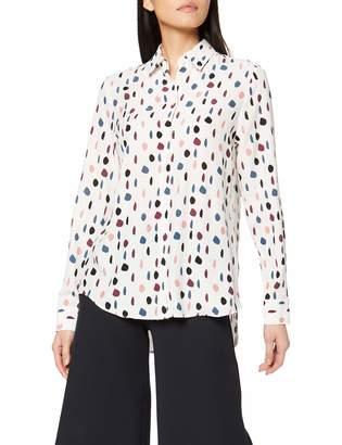 Seidensticker Women's Hemdbluse Langarm Modern Fit Uni und Gemustert Blouse