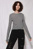 Topshop **Striped Slubby Long Sleeve T-Shirt by Boutique