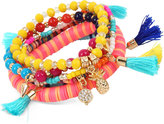 INC International Concepts M. Haskell for Gold-Tone 6-Pc. Set Multi-Charm Beaded Stretch Bracelets, Only at Macy's