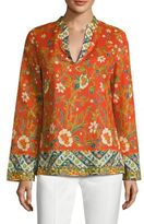 Tory Burch Stephanie Floral-Print Cotton Poplin Tunic