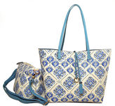 Imoshion Tile Print Large Reversible Bag-in-a-Bag Tote