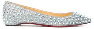 Christian Louboutin Follies Studded Glittered Flats - Multi