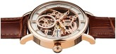 Ingersoll 1892 The Herald Rose Gold and Grey Skeleton Dial Brown Leather Strap Automatic Mens Watch