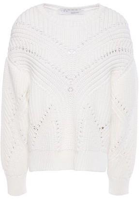 IRO Loaded Open-knit Cotton-blend Sweater