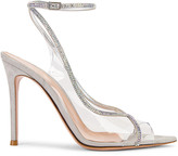 Gianvito Rossi Ankle Strap Heels in Transparent & Silver | FWRD