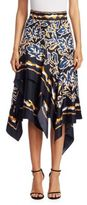 Peter Pilotto Silk Twill Scarf Skirt