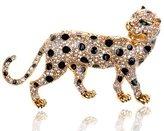 Alilang en Wild Safari Cheetah Leopard Cat Swarovski Crystal Rhinestone Pin Brooch