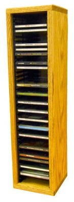 "Multimedia Storage Rack Wood Shed Size: 26.88"" H x 6.75"" W x 6.75"" D, Color: Dark"