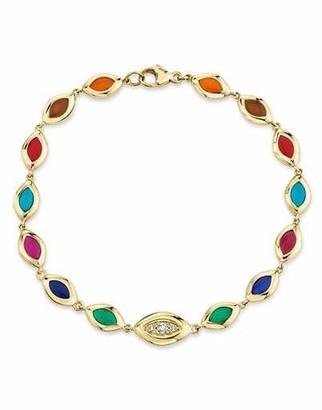 Andy Lif 7 Color Enamel Cat's Eye Bracelet