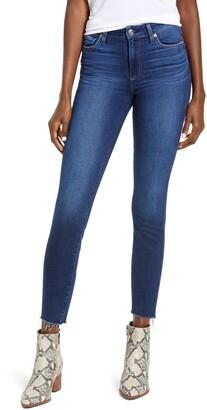 Paige Hoxton High Waist Raw Hem Crop Skinny Jeans