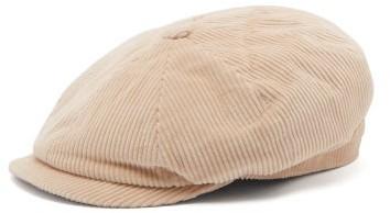516906e73 Cotton Corduroy Flat Cap - Mens - Beige