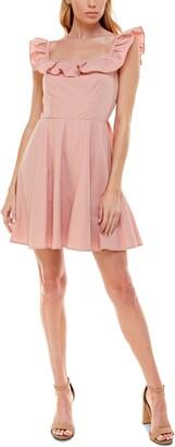 Trixxi Juniors' Ruffled Fit & Flare Dress