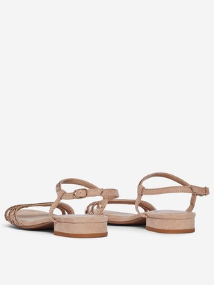Dorothy Perkins Wide Fit Soo Jewled Sandals- Nude