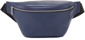 Fendi Men's Embossed FF Leather Belt Bag