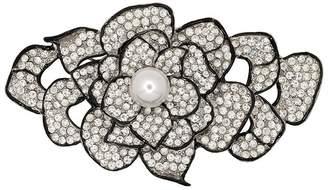 Kenneth Jay Lane Pearl And Rhinestone Flower Pin