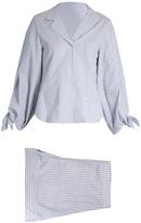 THREE GRACES LONDON Bardeu and Clarance striped cotton pyjama set