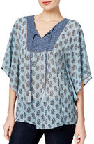 Style And Co. Day Dream Flutter Blouse