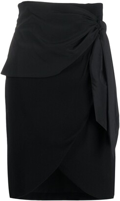 FEDERICA TOSI Draped Knot Detail Silk Skirt