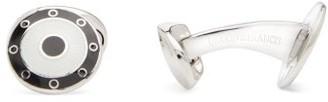 Deakin & Francis Round Sterling-silver Cufflinks - Black