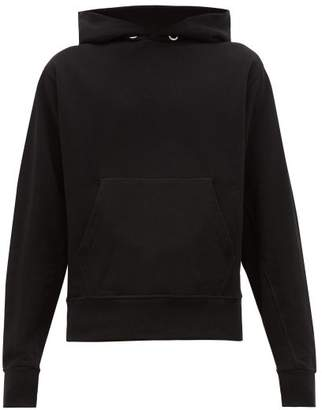 Helmut Lang Monogram Embroidered Cotton Hooded Sweatshirt - Mens - Black