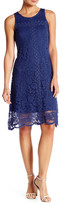Donna Ricco Sleeveless Lace Trapeze Dress
