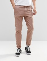 Asos Slim Chinos In Pale Pink