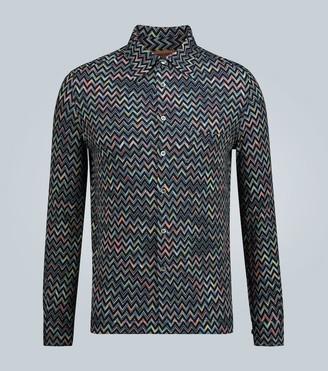Missoni Knitted zig-zag printed shirt