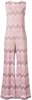 M Missoni Zigzag Embroidered Jumpsuit