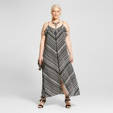 Ava & Viv Women's Plus Size Printed Flounce Maxi Dress