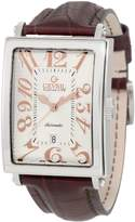 Rosegold Gevril Men's 5005A Avenue of America Swiss Automatic Rose-Gold Brown Leather Watch