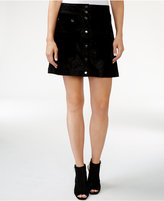 GUESS Tamara Button-Front A-Line Skirt
