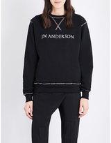 J.W.Anderson Rainbow-stitched cotton-jersey sweatshirt