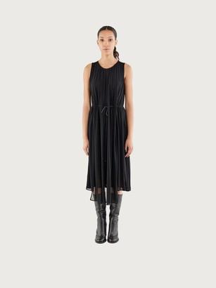 Salvatore Ferragamo Women Double layer jersey dress Black